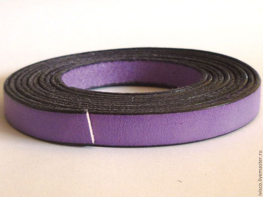 Для украшений ручной работы. Ярмарка Мастеров - ручная работа. Купить Кожаный шнур 10х2мм сиреневый матовый. Handmade.