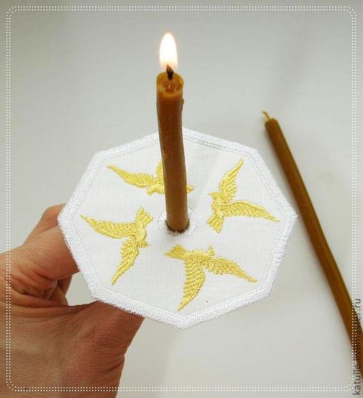 Подарки для новорожденных, ручной работы. Ярмарка Мастеров - ручная работа. Купить Салфетка для свечи. Крещение. Церковная служба.. Handmade. Белый