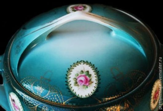 Винтажная посуда. Ярмарка Мастеров - ручная работа. Купить Германия Старинная Конфетница Фарфор Медальоны Редкий Винтаж. Handmade. Комбинированный