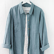 Одежда handmade. Livemaster - original item Women`s 100% linen oversize shirt. Handmade.