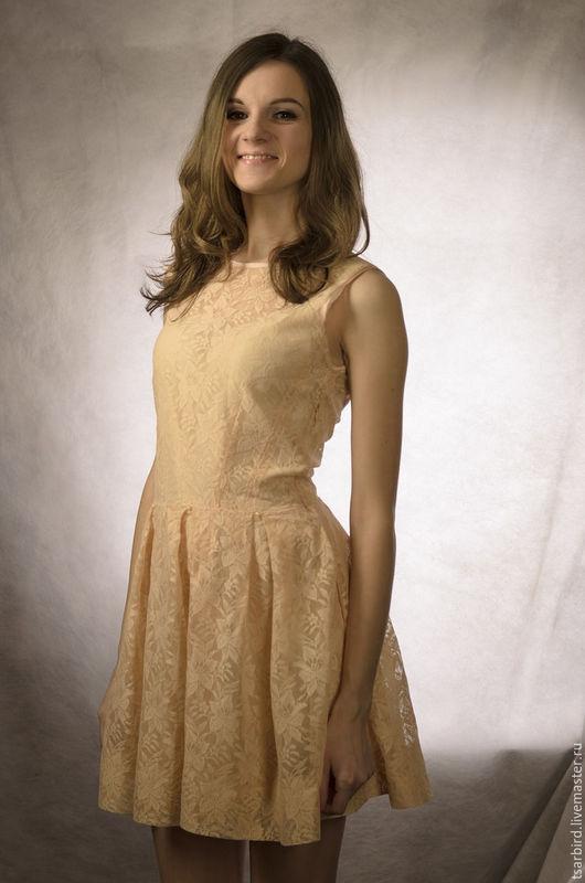 Платья ручной работы. Ярмарка Мастеров - ручная работа. Купить Платье. Handmade. Бежевый, платье вечернее, платье из шифона, комплект