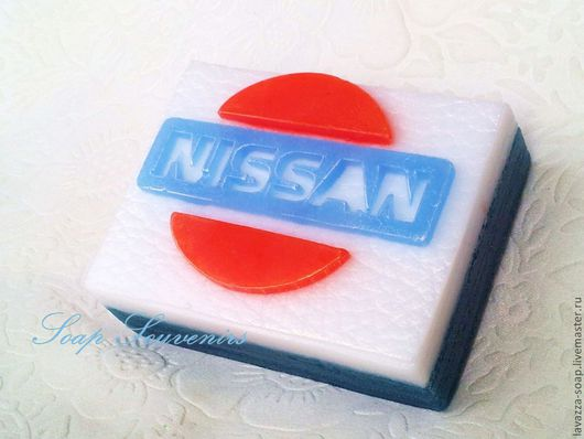 """Мыло ручной работы. Ярмарка Мастеров - ручная работа. Купить Мыло """"Логотип Nissan"""". Handmade. Мыло ручной работы, мыло"""