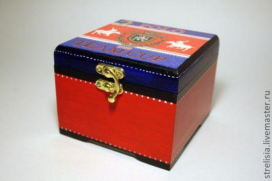 """Подарки для мужчин, ручной работы. Ярмарка Мастеров - ручная работа. Купить шкатулочка для мелочей """"Polo"""". Handmade. Мужской подарок, принт"""