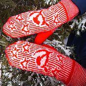 Аксессуары handmade. Livemaster - original item Warm double mittens