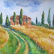Картины и панно ручной работы. Ярмарка Мастеров - ручная работа Солнечная Тоскана. Handmade.