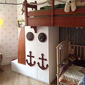 Для дома и интерьера handmade. Livemaster - original item 124. Loft bed in a marine style. Handmade.