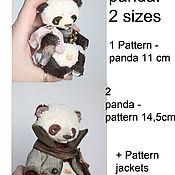 Материалы для творчества ручной работы. Ярмарка Мастеров - ручная работа выкройка панды двух размеров. Handmade.