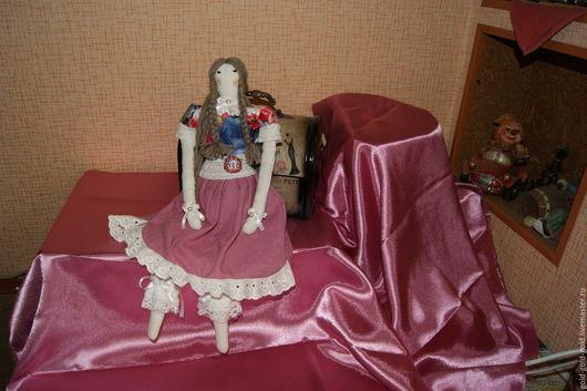 Куклы Тильды ручной работы. Ярмарка Мастеров - ручная работа. Купить кукла тильда Загадка. Handmade. Брусничный, загадка, бусины