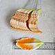 Лепестки лилии оранжево-зеленые большие My Thai Материалы для малберри флористики из Таиланда