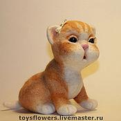 Куклы и игрушки ручной работы. Ярмарка Мастеров - ручная работа Маруся - котенок. Handmade.