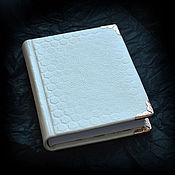 """Канцелярские товары ручной работы. Ярмарка Мастеров - ручная работа Блокнот """"Белый-белый"""". Handmade."""