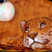 """Украшения ручной работы. Ярмарка Мастеров - ручная работа Кулон """"Леопард и опаловая луна"""". Handmade."""