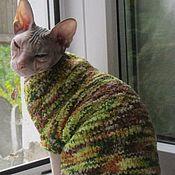 Для домашних животных, ручной работы. Ярмарка Мастеров - ручная работа Плюшевый свитер для кошки(кота). Handmade.