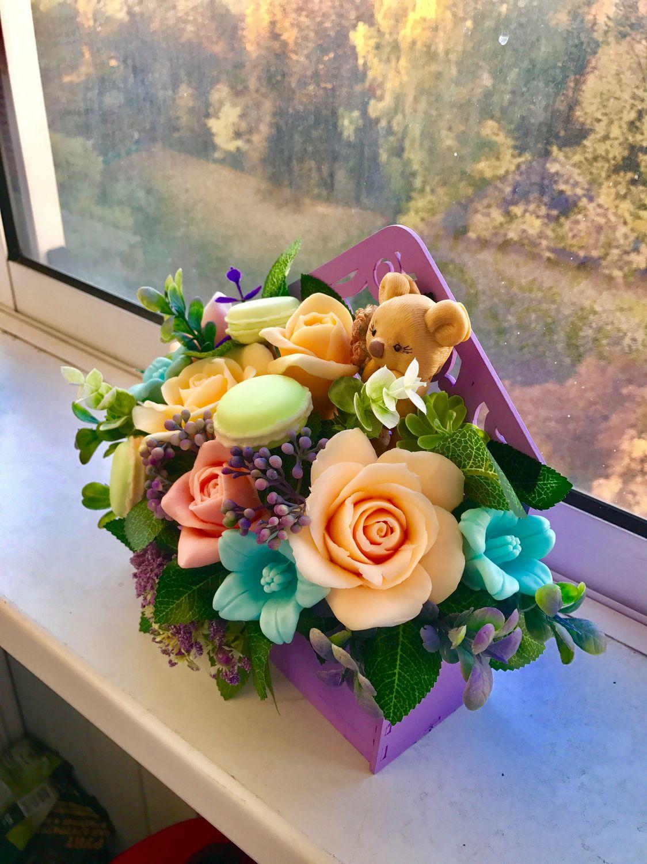 Водопад, букет цветов из детского мыла купить