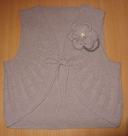 Одежда для девочек, ручной работы. Ярмарка Мастеров - ручная работа. Купить Костюм вязаный. Handmade. Серый, нарядный жилет