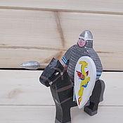 Куклы и игрушки handmade. Livemaster - original item The Norman horse warrior. Handmade.