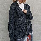 Одежда handmade. Livemaster - original item Luxury cardigan Black cardigan Cardigan with pockets. Handmade.