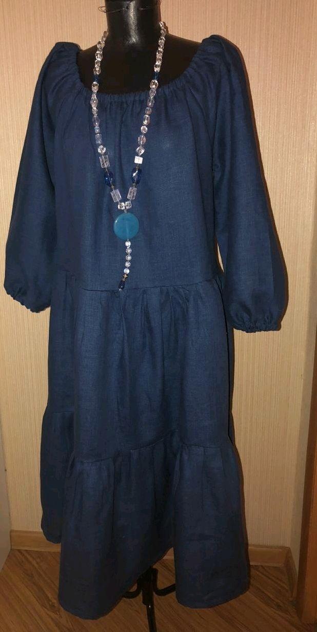 Платье льняное бохо, Платья, Москва,  Фото №1