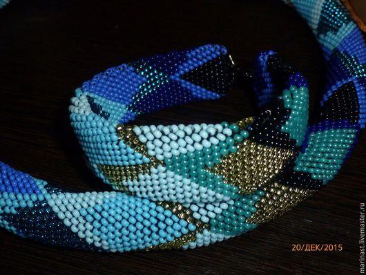 Комплекты украшений ручной работы. Ярмарка Мастеров - ручная работа. Купить Комплект из бисера сине-голубой. Handmade. Синий
