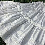 Одежда handmade. Livemaster - original item Cotton petticoat, petticoat with lace