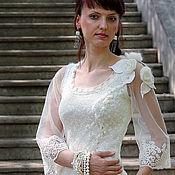 """Одежда ручной работы. Ярмарка Мастеров - ручная работа Блузка """"Торжество цвета """"Ivory"""" розы винтаж. Handmade."""