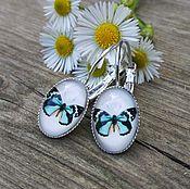 Украшения handmade. Livemaster - original item Silver plated earrings Butterfly. Handmade.