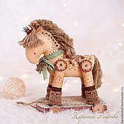 Куклы и игрушки ручной работы. Ярмарка Мастеров - ручная работа Праздничная лошадка. Handmade.