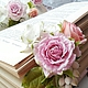 Свадебные украшения ручной работы. Венок с розами , Бутоньерка с розами, гортензией, снежноягодником. Mashadeeva. Интернет-магазин Ярмарка Мастеров. Розовый