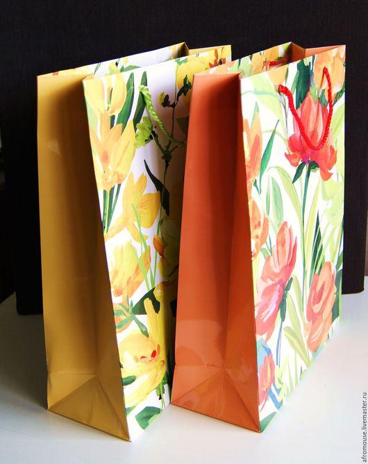 Пакеты `Крупные цветы` 30х40х12см