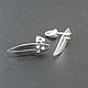 Серебряные серги гвоздики  `SURF STYLE`  в виде досок для сёрфинга. Серебро 925. Серебряные серьги ручной работы `CRAZY SILVER`, СПБ.