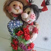 Мягкие игрушки ручной работы. Ярмарка Мастеров - ручная работа Домовята-неразлучники.Подарочная кукла-оберег ручной работы. Handmade.