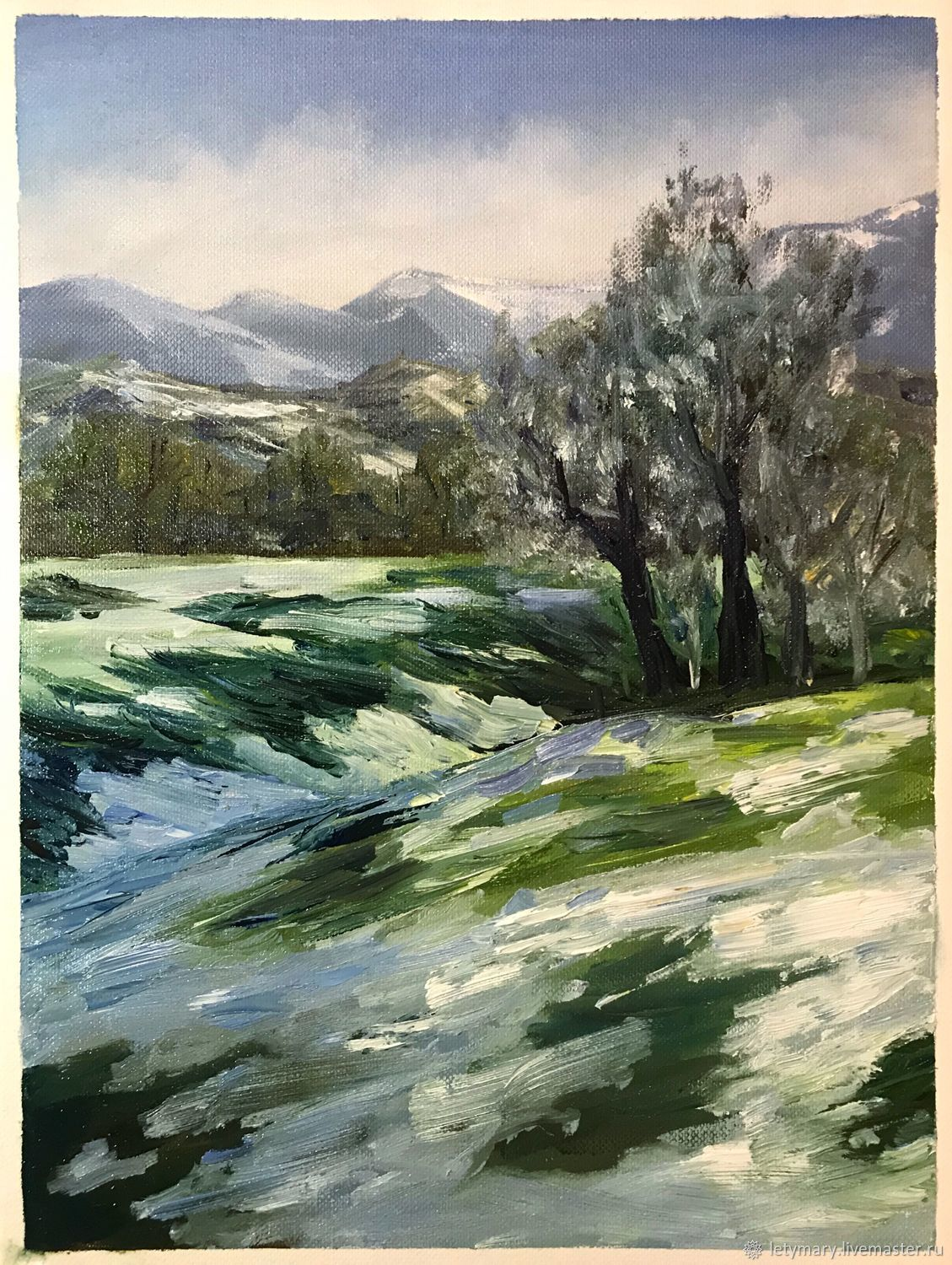 Oil painting ' Beginning of spring', Pictures, Novosibirsk,  Фото №1