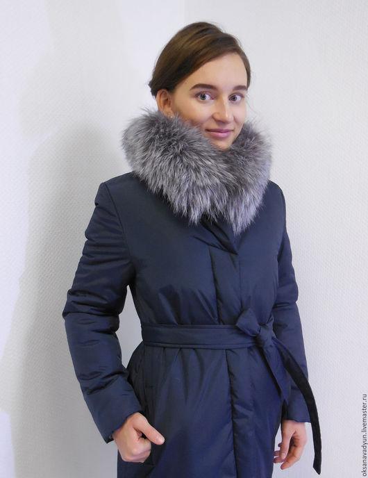Верхняя одежда ручной работы. Ярмарка Мастеров - ручная работа. Купить Пуховое пальто Winter с меховым воротником. Handmade.