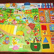 """Куклы и игрушки ручной работы. Ярмарка Мастеров - ручная работа Развивающий коврик """"Играем в сказку"""" с массажной дорожкой. Handmade."""