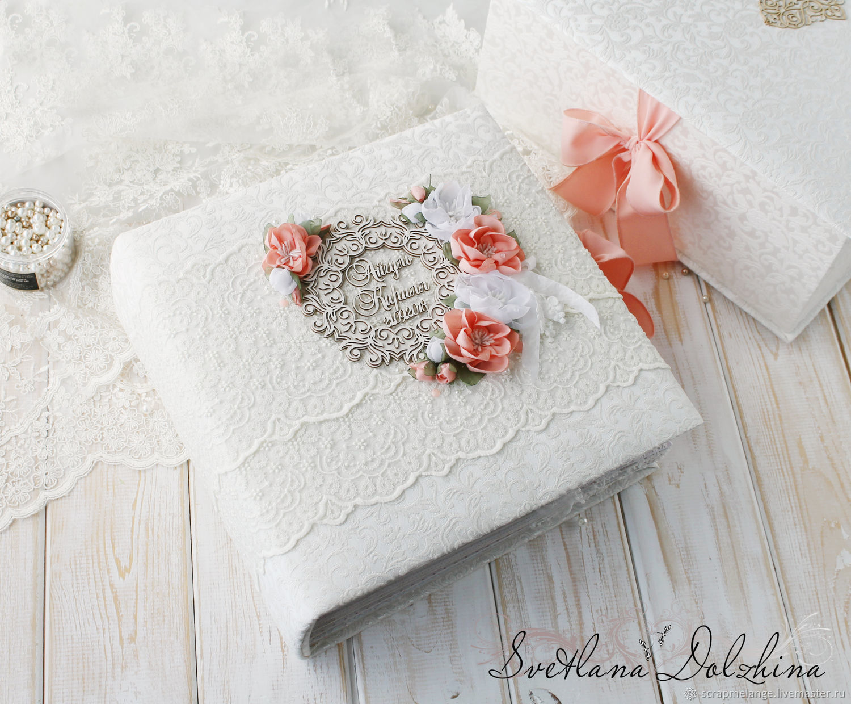 """Свадебный альбом """"Cloud lace"""" в коробке белый кружево, Подарки, Тюмень, Фото №1"""