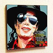 Картины и панно handmade. Livemaster - original item Picture Poster of Michael Jackson-2 in the style of Pop Art. Handmade.