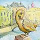 Уточка на канале  Петербург.  Принт 15х20 см, Детская, Санкт-Петербург, Фото №1