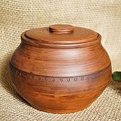 Русский стиль handmade. Livemaster - original item Pot for baking. Handmade.