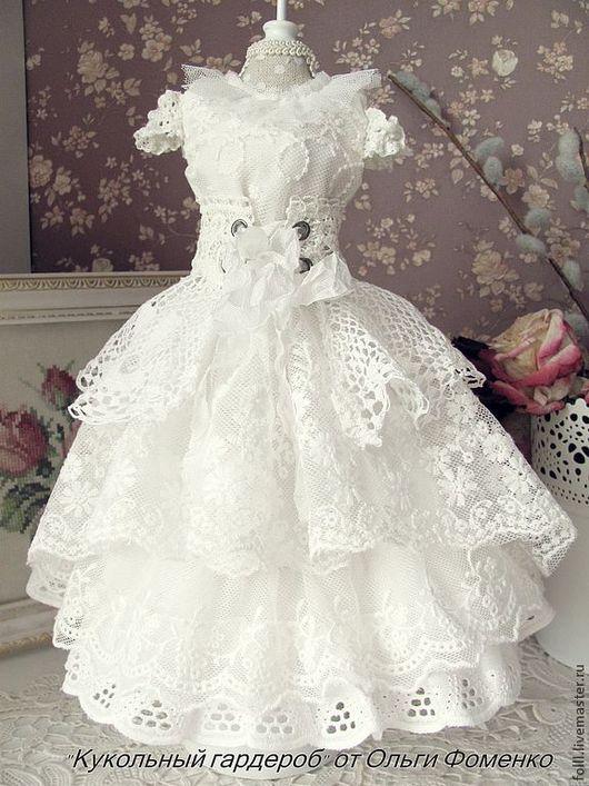 Одежда для кукол ручной работы. Ярмарка Мастеров - ручная работа. Купить Наряд   для куклы БЖД (MCD)  №22. Handmade. Белый
