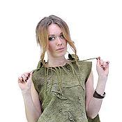 """Одежда ручной работы. Ярмарка Мастеров - ручная работа Валяный жилет """"Лесной мох"""". Handmade."""