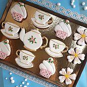 Сувениры и подарки handmade. Livemaster - original item Set of gingerbread Tea set. Gingerbread Birthday. Handmade.