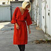 Одежда ручной работы. Ярмарка Мастеров - ручная работа Платье из хлопка ВАФЕЛЬНОЕ. Handmade.