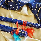 Музыкальные инструменты handmade. Livemaster - original item A rain stick ( Rainstick) (blue 110 cm). Handmade.