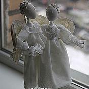Куклы и игрушки ручной работы. Ярмарка Мастеров - ручная работа Пара безликих ангелов на подставке. Handmade.