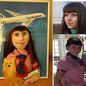 Куклы и игрушки ручной работы. Ярмарка Мастеров - ручная работа Портретная кукла Стюардесса. Handmade.