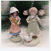 Куклы и игрушки ручной работы. Ярмарка Мастеров - ручная работа ватные игрушки Антонина и Нюся. Handmade.
