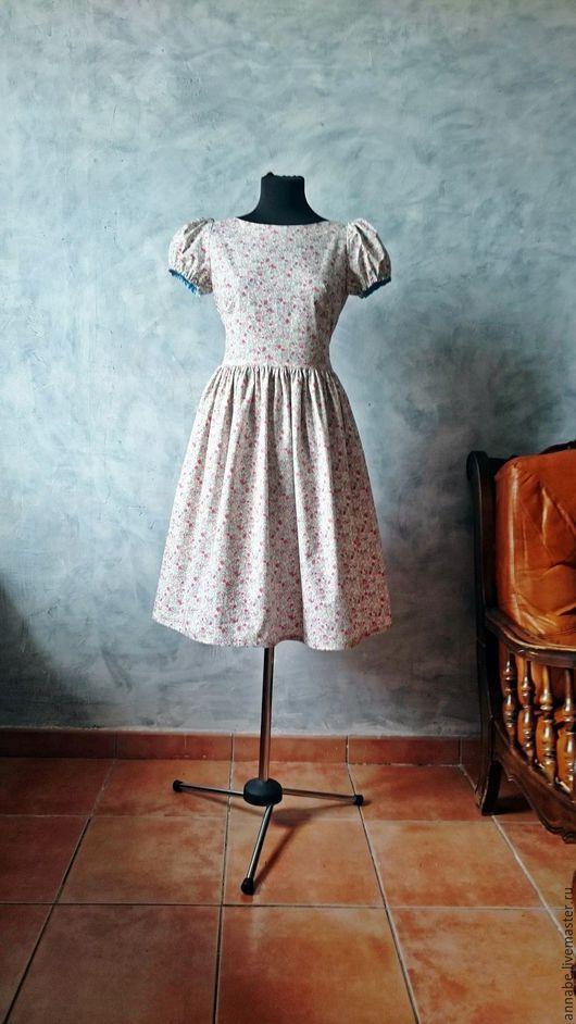 Платья ручной работы. Ярмарка Мастеров - ручная работа. Купить Платье Барышня Хлопок 100%. Handmade. Платье для работы, платье