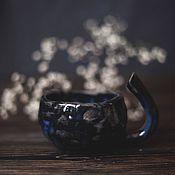 Посуда ручной работы. Ярмарка Мастеров - ручная работа Чашка черного зверя. Handmade.