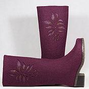 """Обувь ручной работы. Ярмарка Мастеров - ручная работа Валяные сапожки """"Пурпурные"""". Handmade."""