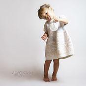 Работы для детей, ручной работы. Ярмарка Мастеров - ручная работа Тёплое детское валяное платье цвета айвори. Handmade.